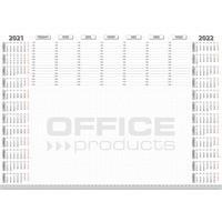 Podkładka na biurko OFFICE PRODUCTS, planer 2021, biuwar 594x420mm A2 ,52k., biała