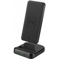 Powerbank PB301, 10000mAh, 18W, z ładowaniem bezprzewodowym (indukcyjnym) Qi, z funkcją mini standu, (USB Typ A+USB Type-C+QC3.0)