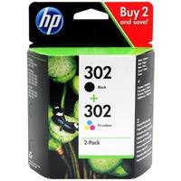 Tusz HP 2-Pack 302 | 1 x 3,5ml + 1 x 4ml | black + tri-color