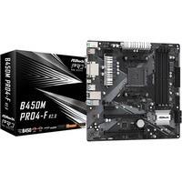Płyta główna B450M PRO4-F R2.0 AM4 4DDR4 DVI/HDMI/VGA M.2