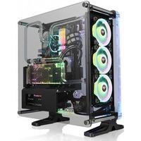 obudowa - DistroCase 350P Black Tempered Glass