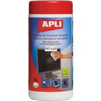 Ściereczki do czyszczenia ekranów APLI, tuba, 100szt