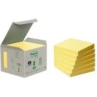 Ekologiczne karteczki samoprzylepne POST-IT® (654-1B), 76x76mm, 6x100 kart., żółte