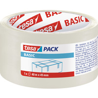 Taśma pakowa TESA BASIC 40m x55mm transparentna 58574-00000-00TS