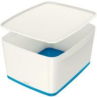 Pojemnik MyBOX duży z pokrywką biało-niebieski LEITZ 52161036