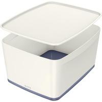Pojemnik MyBOX duży z pokrywką biało-szary LEITZ 52161001