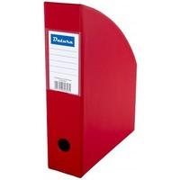 Pojemnik na czasopisma DATURA/NATUNA A4 10cm czerwony PCV (SD-36-07)