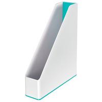 Pojemnik na dokumenty Leitz WOW dwukolorowy, biało-turkusowy 53621051