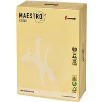 Papier xero A4 80g MAESTRO COLOR YE23 żółty/beż piaskowa