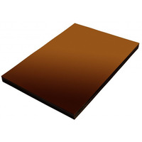 Folia do bindowania A4 DATURA/NATUNA przezroczysta brązowa 0.20mm 100szt