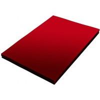 Folia do bindowania A4 NATUNA przezroczysta czerwona 0, 2mm 100szt