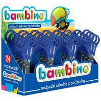 Nożyczki szkolne z podziałką 24 sztuki, display BAMBINO