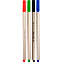 Cienkopis heksagonalny 0.7mm 4kol. KC104-M4