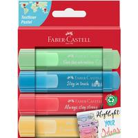 Zakreślacz 1546 pastelowy 4 kolory opakowanie kartonowe 254625 FABER CASTELL
