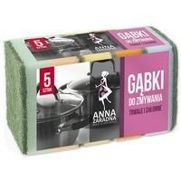Gąbki do zmywania ANNA ZARADNA, prostokątne, 5 szt., mix kolorów