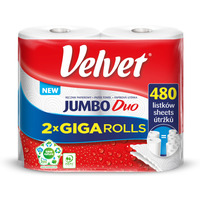 Ręcznik VELVET JUMBO Duo (2 sztuki) 2x240 listków 50m 2 warstwy 21x22, 5cm 400g 100%celuloza 61251669