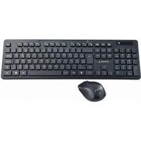Zestaw klawiatura+mysz czarny/bezprzewodowy US