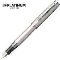 Pióro wieczne PLATINUM Proycon Luster Satin Silver, F, srebrne