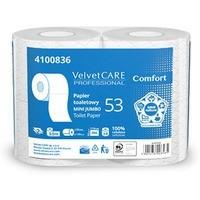 Papier toaletowy celulozowy VELVET Comfort, 2-warstwowy, 486 listków, 4szt., biały