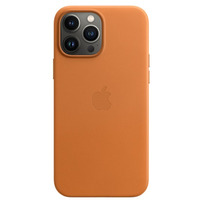 Etui skórzane z MagSafe do iPhonea 13 Pro Max - złocisty brąz