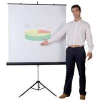 Ekran projekcyjny BI-OFFICE, na trójnogu, 1800x1800mm, biały
