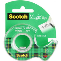 Taśma biurowa SCOTCH® Magic™ (890; 8-1975), matowa, z dyspenserem, 19mm, 7, 6m