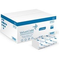 Ręczniki składane ZZ celulozowe VELVET Profesional, 2-warstwowe, 3000 listków, 20szt., białe