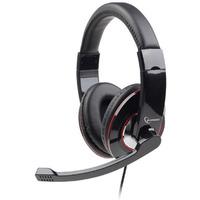 Słuchawki z mikrofonem MHS-U-001 USB czarne